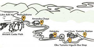 tokaido hiking map